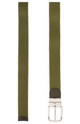 Мужской текстильный ремень PAUL&SHARK хаки цвета, арт. C0P6001 | Фото 2