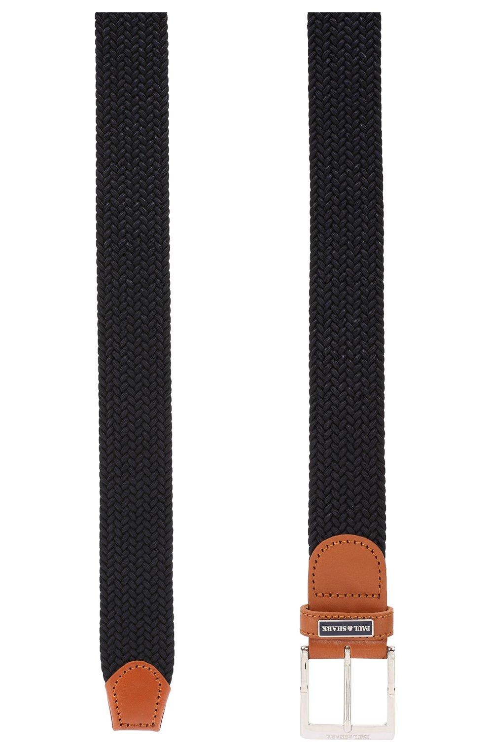 Мужской текстильный ремень PAUL&SHARK темно-синего цвета, арт. E20P6000 | Фото 2