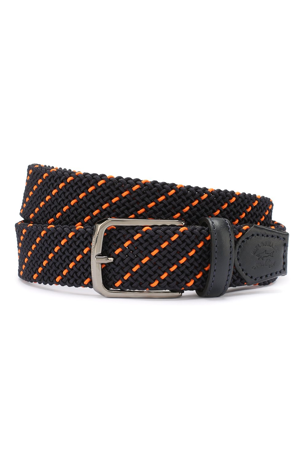 Мужской текстильный ремень PAUL&SHARK оранжевого цвета, арт. E20P6001 | Фото 1