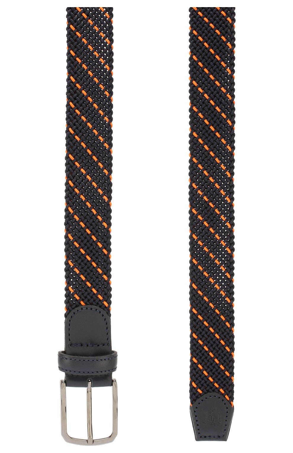 Мужской текстильный ремень PAUL&SHARK оранжевого цвета, арт. E20P6001 | Фото 2