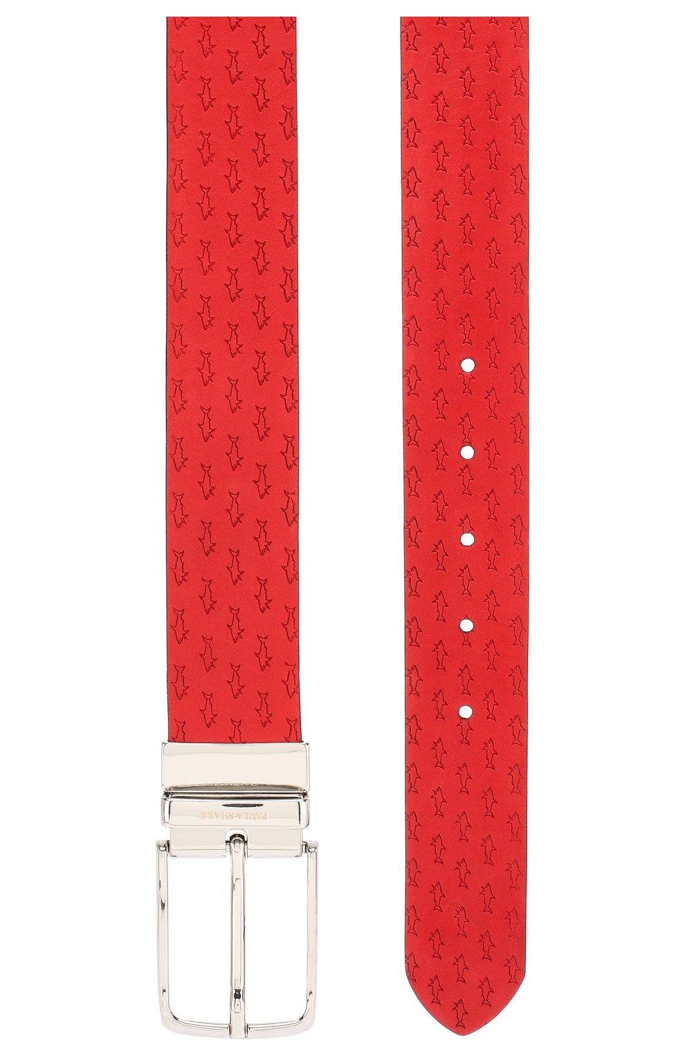 Мужской кожаный ремень PAUL&SHARK красного цвета, арт. E20P6014 | Фото 2