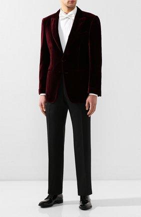 Мужской кожаные дерби GIORGIO ARMANI черного цвета, арт. X2C536/XAT24 | Фото 2