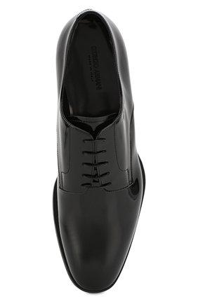 Мужские кожаные дерби GIORGIO ARMANI черного цвета, арт. X2C536/XAT24 | Фото 5