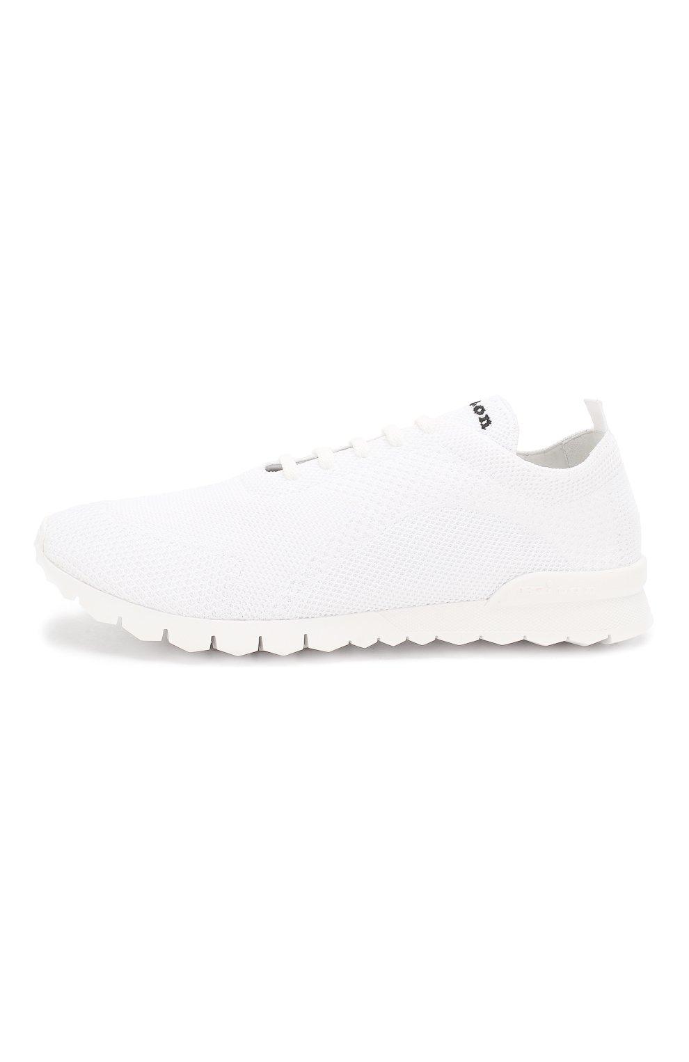 Мужские текстильные кроссовки KITON белого цвета, арт. USSFITSN00609   Фото 3