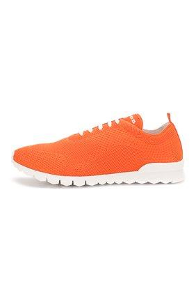 Мужские текстильные кроссовки KITON оранжевого цвета, арт. USSFITSN00609   Фото 3