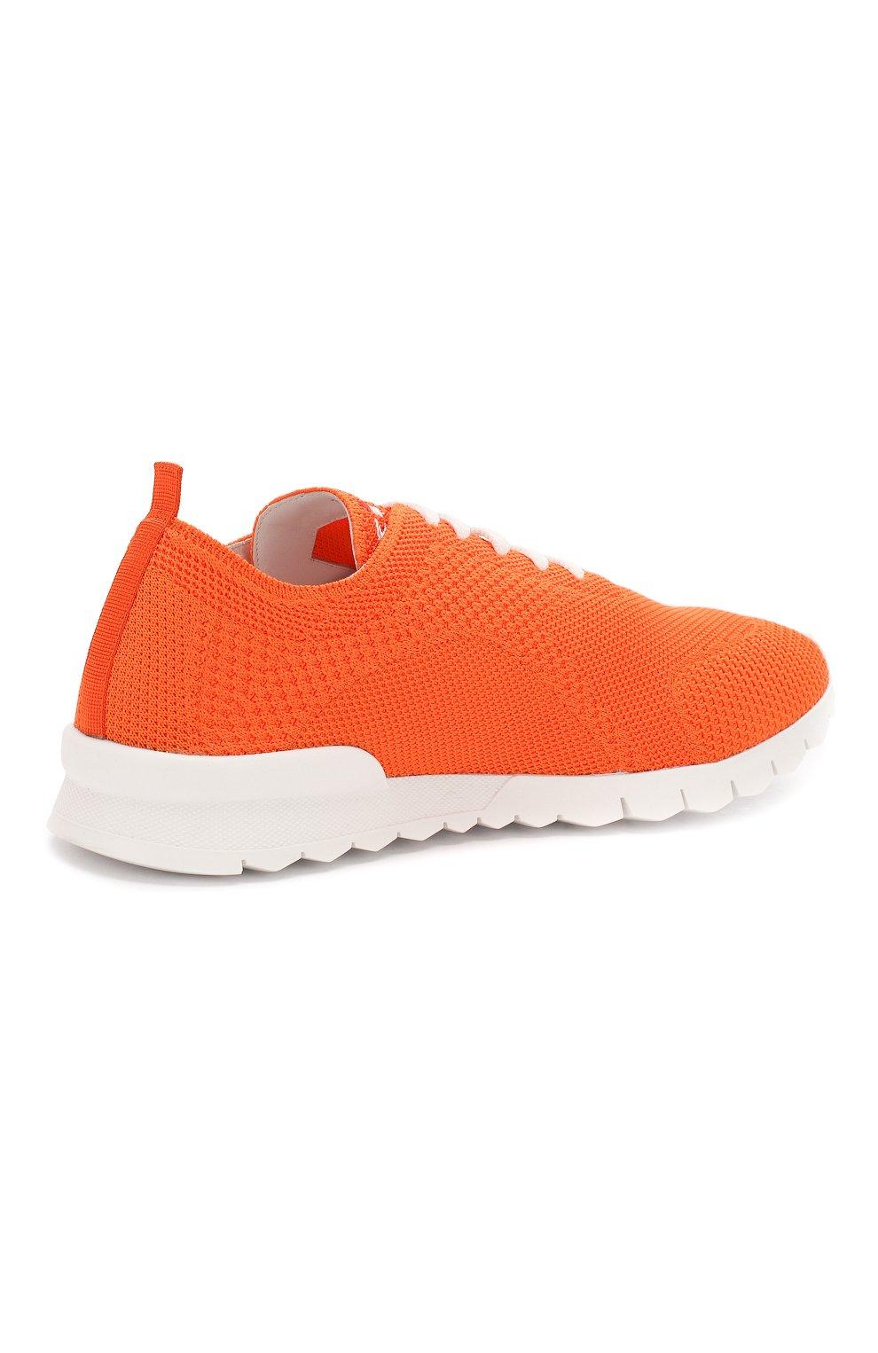 Мужские текстильные кроссовки KITON оранжевого цвета, арт. USSFITSN00609   Фото 4