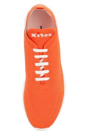 Мужские текстильные кроссовки KITON оранжевого цвета, арт. USSFITSN00609   Фото 5
