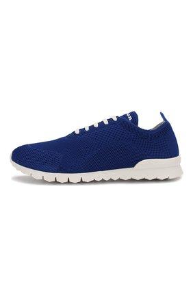 Мужские текстильные кроссовки KITON синего цвета, арт. USSFITSN00609 | Фото 3