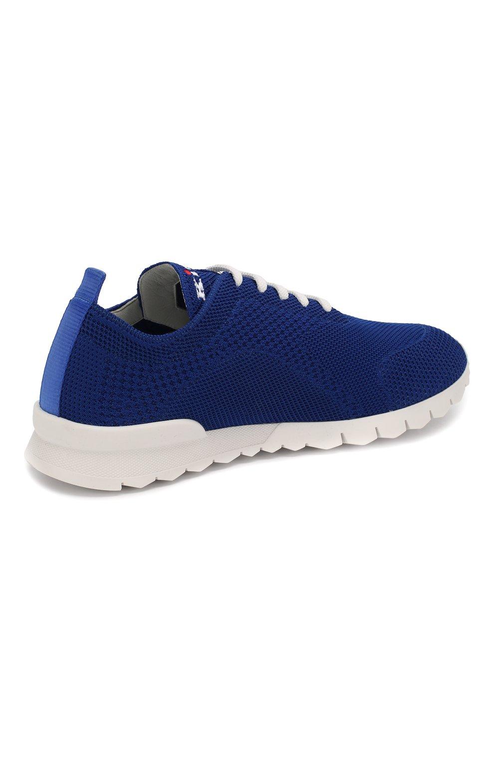 Мужские текстильные кроссовки KITON синего цвета, арт. USSFITSN00609 | Фото 4