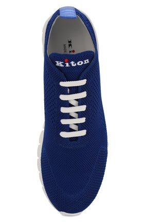 Мужские текстильные кроссовки KITON синего цвета, арт. USSFITSN00609 | Фото 5