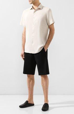 Мужские кожаные сабо TOD'S черного цвета, арт. XXM0GW003U0VYP | Фото 2