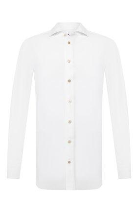 Мужская сорочка KITON белого цвета, арт. UCIH0720901 | Фото 1