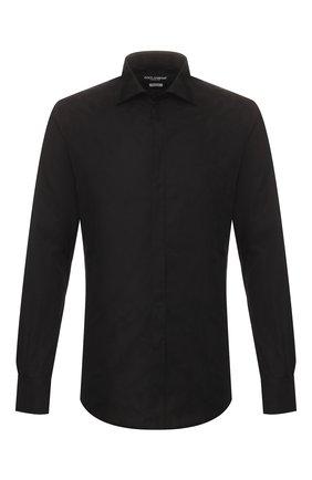Мужская хлопковая сорочка DOLCE & GABBANA черного цвета, арт. G5GB5T/FJ5GE | Фото 1