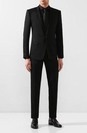 Мужская хлопковая сорочка DOLCE & GABBANA черного цвета, арт. G5GB5T/FJ5GE | Фото 2