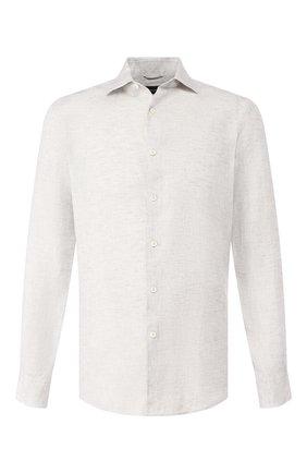 Мужская льняная рубашка ERMENEGILDO ZEGNA серого цвета, арт. UUX38/SRF5 | Фото 1