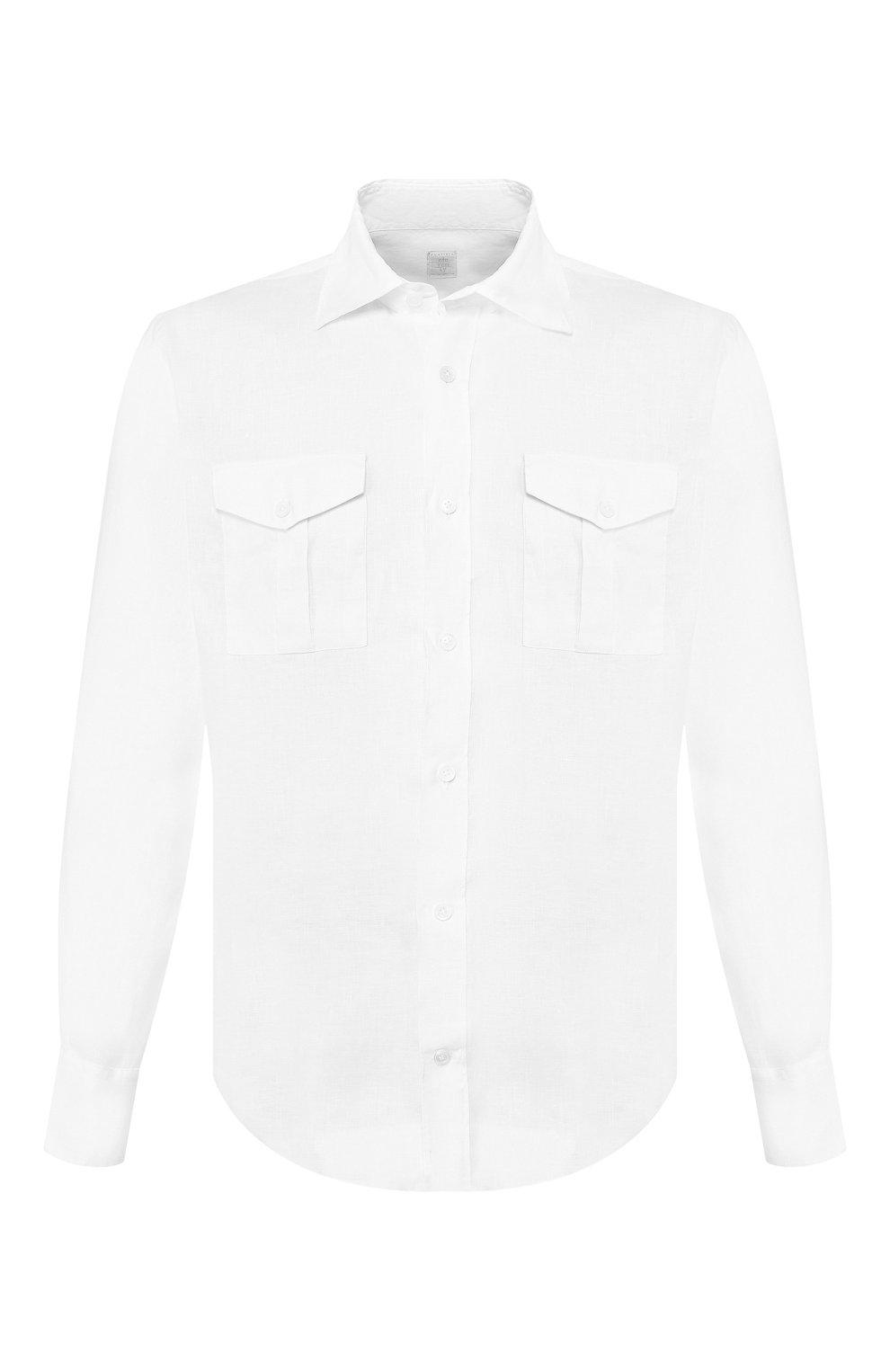 Мужская льняная рубашка ELEVENTY PLATINUM белого цвета, арт. A75CAMA08 TES0A001 | Фото 1