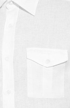 Мужская льняная рубашка ELEVENTY PLATINUM белого цвета, арт. A75CAMA08 TES0A001 | Фото 5