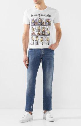 Мужская хлопковая футболка BISIBIGLIO белого цвета, арт. ACCIDENT FUCK   Фото 2