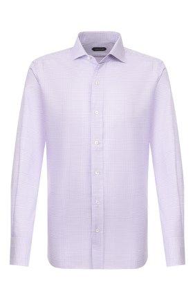 Мужская хлопковая сорочка TOM FORD фиолетового цвета, арт. 7FT635/94S1AX | Фото 1