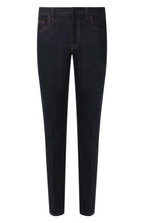 Мужские джинсы ERMENEGILDO ZEGNA темно-синего цвета, арт. UUL02/JL01 | Фото 1