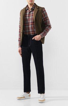 Мужские джинсы ERMENEGILDO ZEGNA темно-синего цвета, арт. UUL02/JL01 | Фото 2