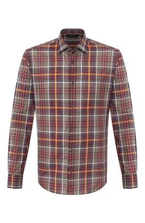 Мужская хлопковая рубашка Z ZEGNA хаки цвета, арт. 705503/ZCRC1 | Фото 1