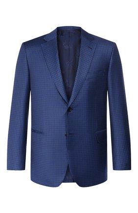 Мужской шерстяной пиджак BRIONI темно-синего цвета, арт. RG0J0M/P9A0N/BRUNIC0 | Фото 1