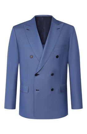 Мужской пиджак из смеси шерсти и шелка BRIONI синего цвета, арт. RG0K00/P9A8S/LIPARI | Фото 1