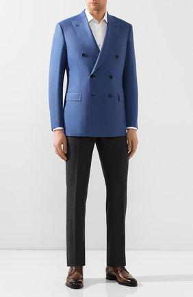 Мужской пиджак из смеси шерсти и шелка BRIONI синего цвета, арт. RG0K00/P9A8S/LIPARI | Фото 2