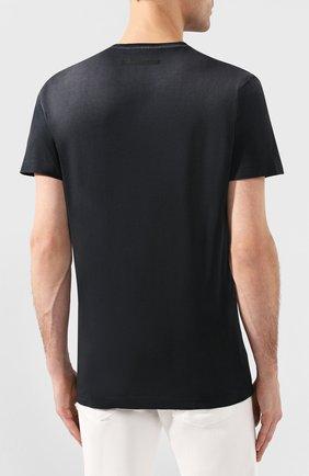 Мужская хлопковая футболка DSQUARED2 черного цвета, арт. S74GD0641/S21600   Фото 4