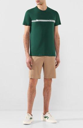 Мужская хлопковая футболка MONCLER зеленого цвета, арт. F1-091-8C707-10-8390T   Фото 2