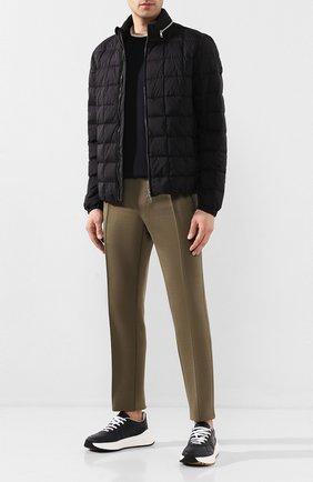 Мужская пуховая куртка trieux MONCLER черного цвета, арт. F1-091-1A524-00-C0506 | Фото 2