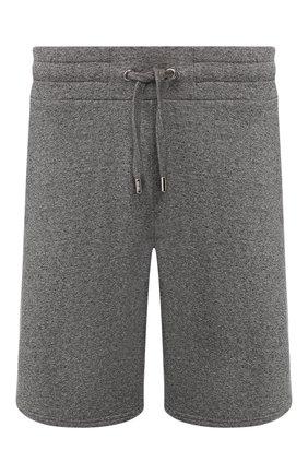 Мужские хлопковые шорты KENZO темно-серого цвета, арт. F755PA7254MD | Фото 1