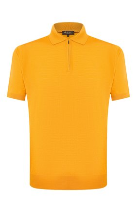 Мужское шерстяное поло LORO PIANA желтого цвета, арт. FAI6633 | Фото 1