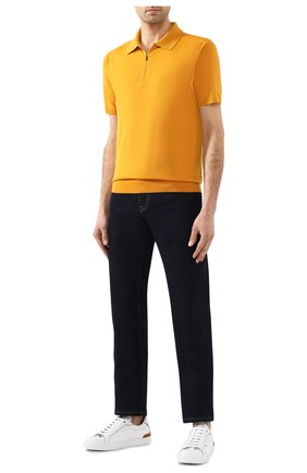 Мужское шерстяное поло LORO PIANA желтого цвета, арт. FAI6633 | Фото 2