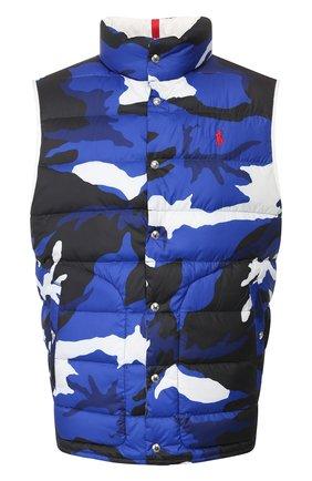 Мужской двусторонний жилет POLO RALPH LAUREN синего цвета, арт. 710790636 | Фото 1