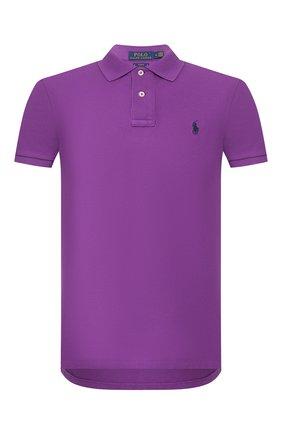 Мужское хлопковое поло POLO RALPH LAUREN фиолетового цвета, арт. 710795080   Фото 1