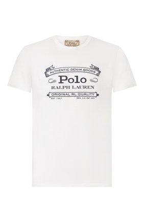 Мужская хлопковая футболка POLO RALPH LAUREN белого цвета, арт. 710795143 | Фото 1
