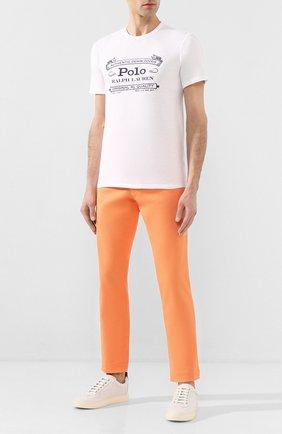 Мужская хлопковая футболка POLO RALPH LAUREN белого цвета, арт. 710795143 | Фото 2