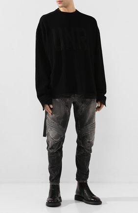 Мужские джинсы BEN TAVERNITI UNRAVEL PROJECT темно-серого цвета, арт. UMYA018S20DEN0021000 | Фото 2
