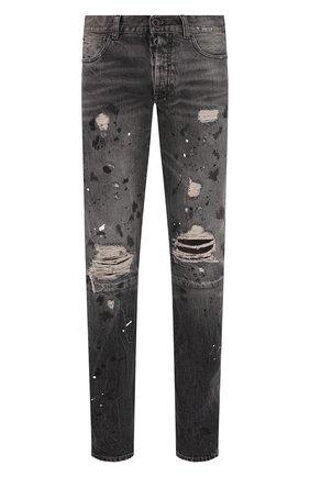 Мужские джинсы BEN TAVERNITI UNRAVEL PROJECT темно-серого цвета, арт. UMYA003S20DEN0041000 | Фото 1