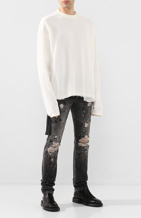 Мужские джинсы BEN TAVERNITI UNRAVEL PROJECT темно-серого цвета, арт. UMYA003S20DEN0041000 | Фото 2