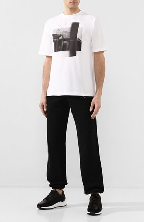 Мужская хлопковая футболка BEN TAVERNITI UNRAVEL PROJECT черно-белого цвета, арт. UMAA004S20JER0030110 | Фото 2
