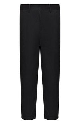Мужской хлопковые брюки NEIL BARRETT темно-синего цвета, арт. PBPA744/N014 | Фото 1