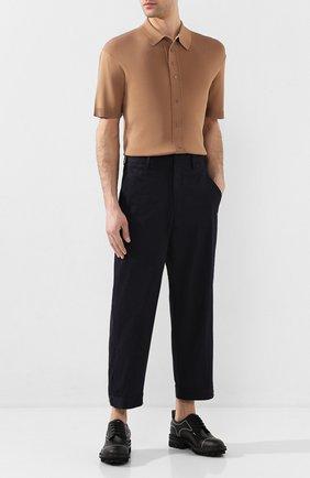 Мужские хлопковые брюки NEIL BARRETT темно-синего цвета, арт. PBPA744/N014 | Фото 2