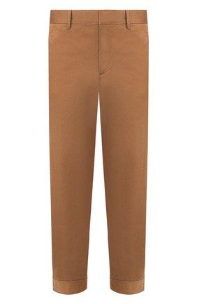 Мужской хлопковые брюки NEIL BARRETT бежевого цвета, арт. PBPA744/N014 | Фото 1