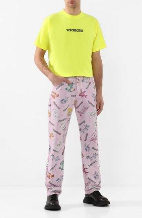 Мужские джинсы VETEMENTS розового цвета, арт. SS20PA197 2800/M | Фото 2
