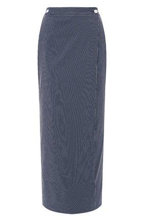 Женская юбка-миди TEREKHOV GIRL темно-синего цвета, арт. 2SK057/3788.ST499/S20 | Фото 1