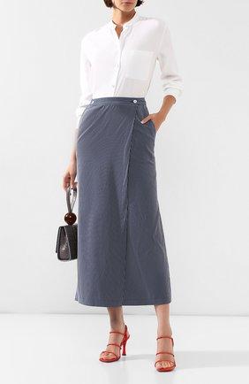 Женская юбка-миди TEREKHOV GIRL темно-синего цвета, арт. 2SK057/3788.ST499/S20 | Фото 2