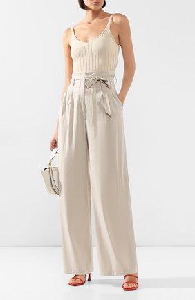 Женские брюки TEREKHOV GIRL бежевого цвета, арт. 2P026/3788.ST102/S20 | Фото 2